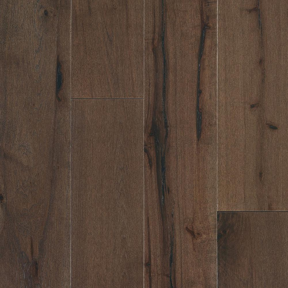 SHAW Repel Water Resistant Hickory Broadway 1/2 in. T x 7 in. W x Random Length Click Hardwood Flooring (22.22 sq. ft./case), Dark