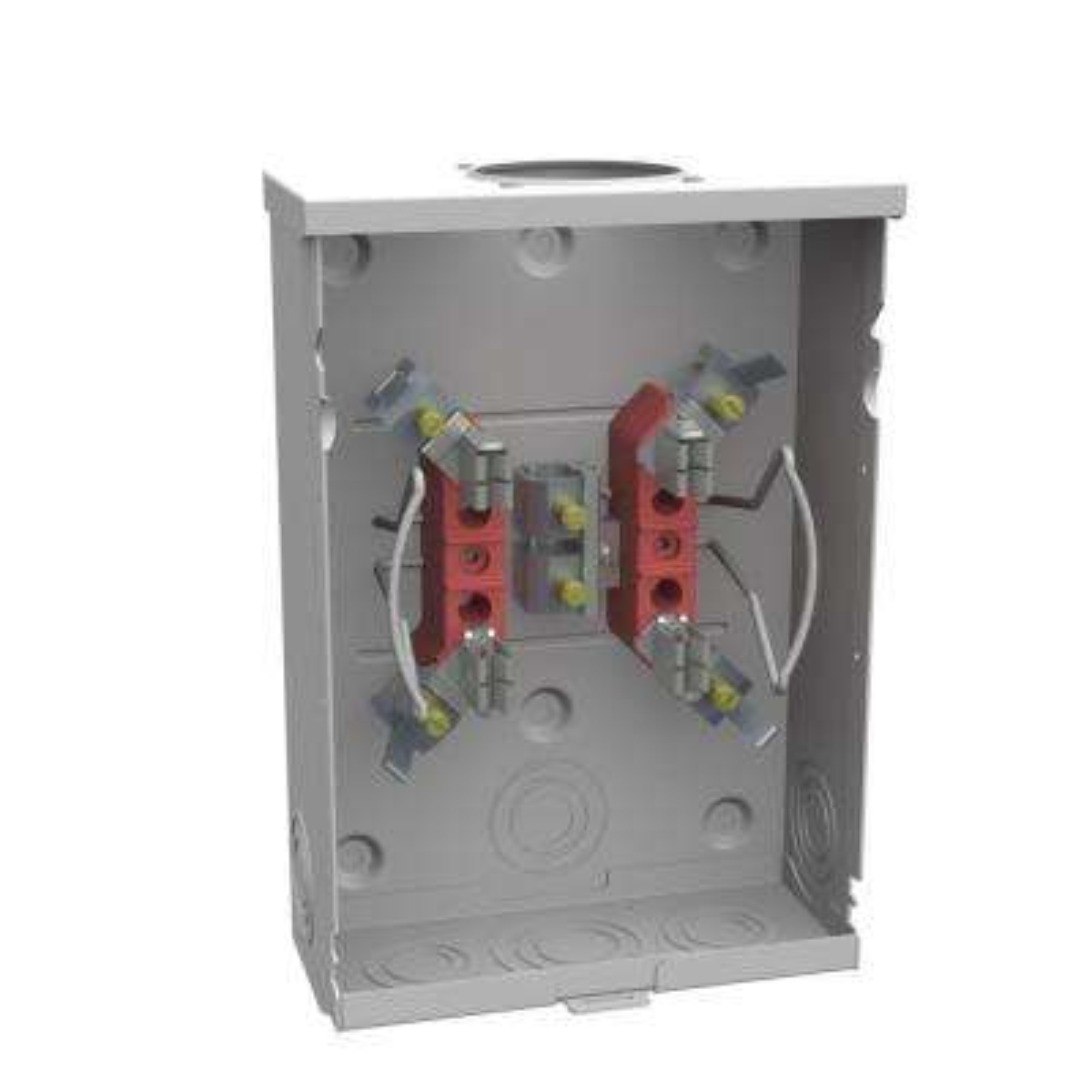 125 Amp 4 Terminal Ringless Overhead/Underground Horn Bypass Meter Socket