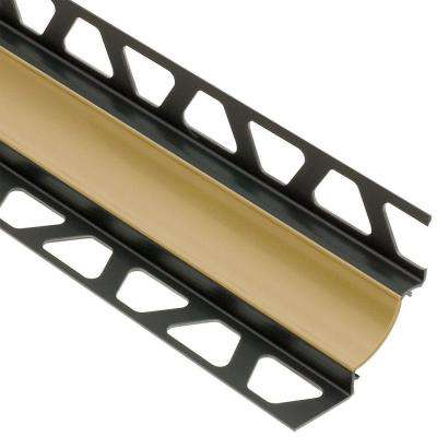Dilex-HKW Light Beige 9/32 in. x 8 ft. 2-1/2 in. PVC Cove-Shaped Tile Edging Trim