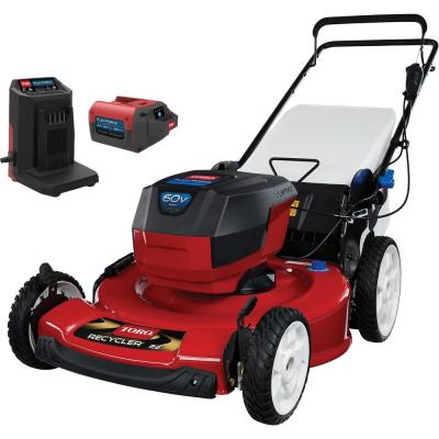 Recycler 22 in. 60-Volt Lithium-Ion Cordless Battery Walk Behind Push Lawn Mower - 6.0 Ah Battery/Charger Included