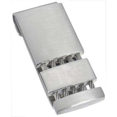 Perseus Satin and Polished Stainless Steel Money Clip