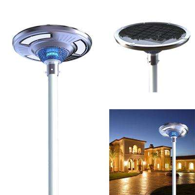 Solar Power SMART Motion Sensing LED Round Post Light for Commercial Residential Walkway Courtyard Parking Lot
