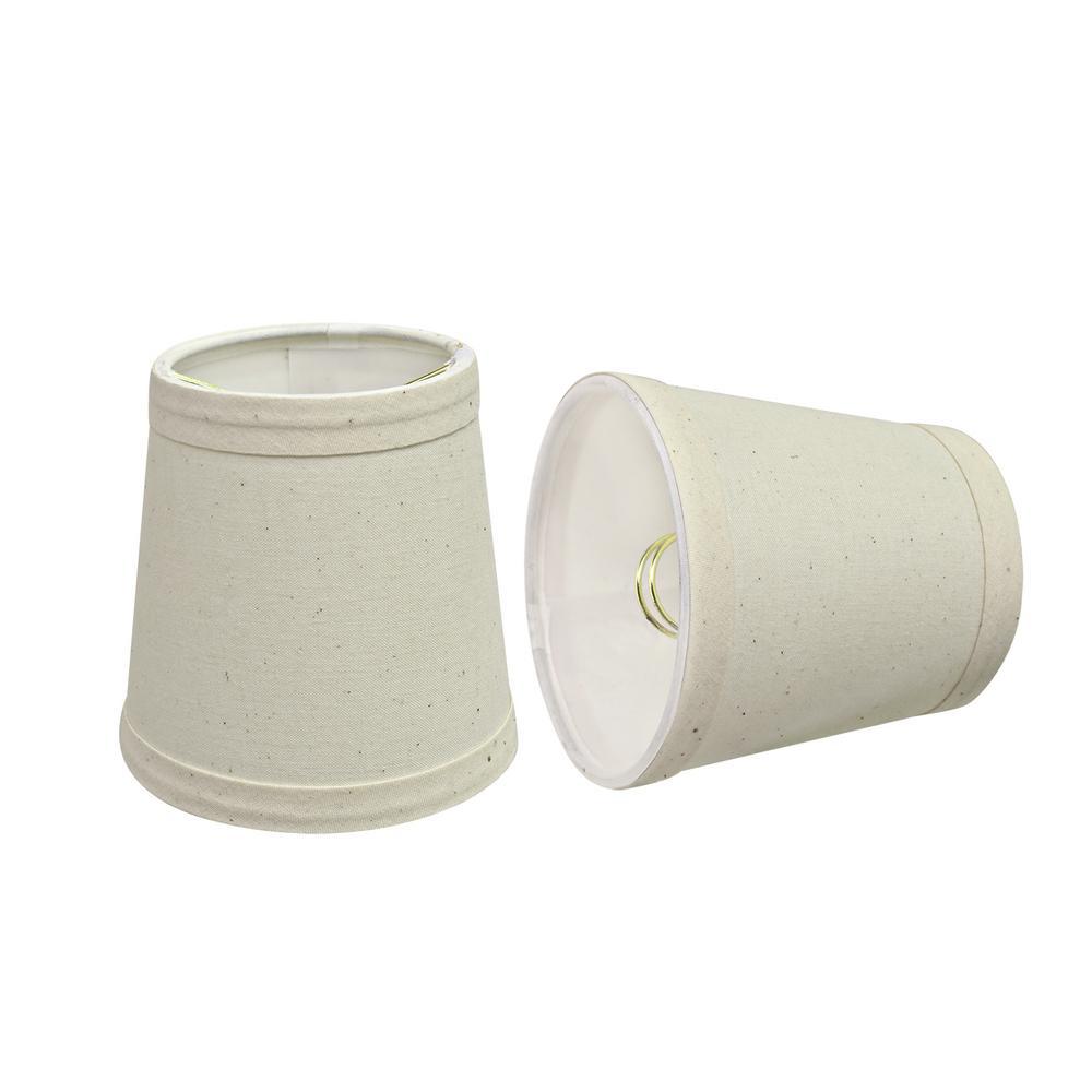 4 in. x 4 in. Off White Hardback Empire Lamp Shade (2-Pack)