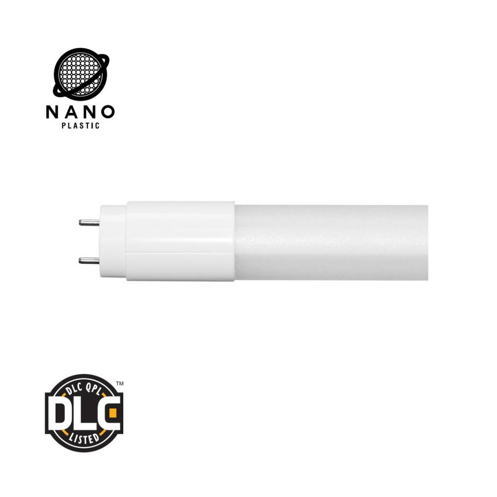 32W Equivalent Cool White T8 NANO Plastic LED Light Bulb