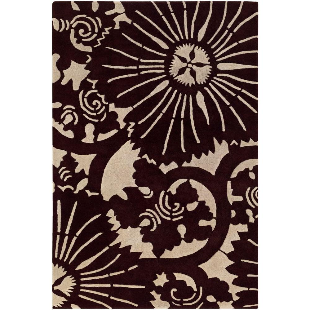 Chandra Seedling Brown/Cream 5 ft. x 7 ft. 6 in. Indoor Area Rug