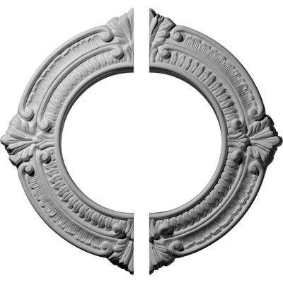 11-1/8 in. O.D. x 6-1/8 in. I.D. x 5/8 in. P Benson Ceiling Medallion (2-Piece)