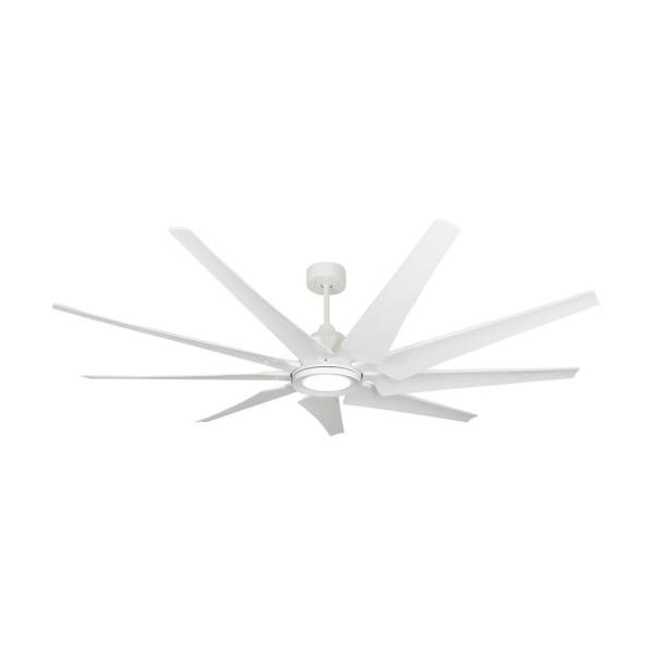 Liberator 72 in. LED Indoor/Outdoor Pure White Ceiling Fan and Light with Remote Control