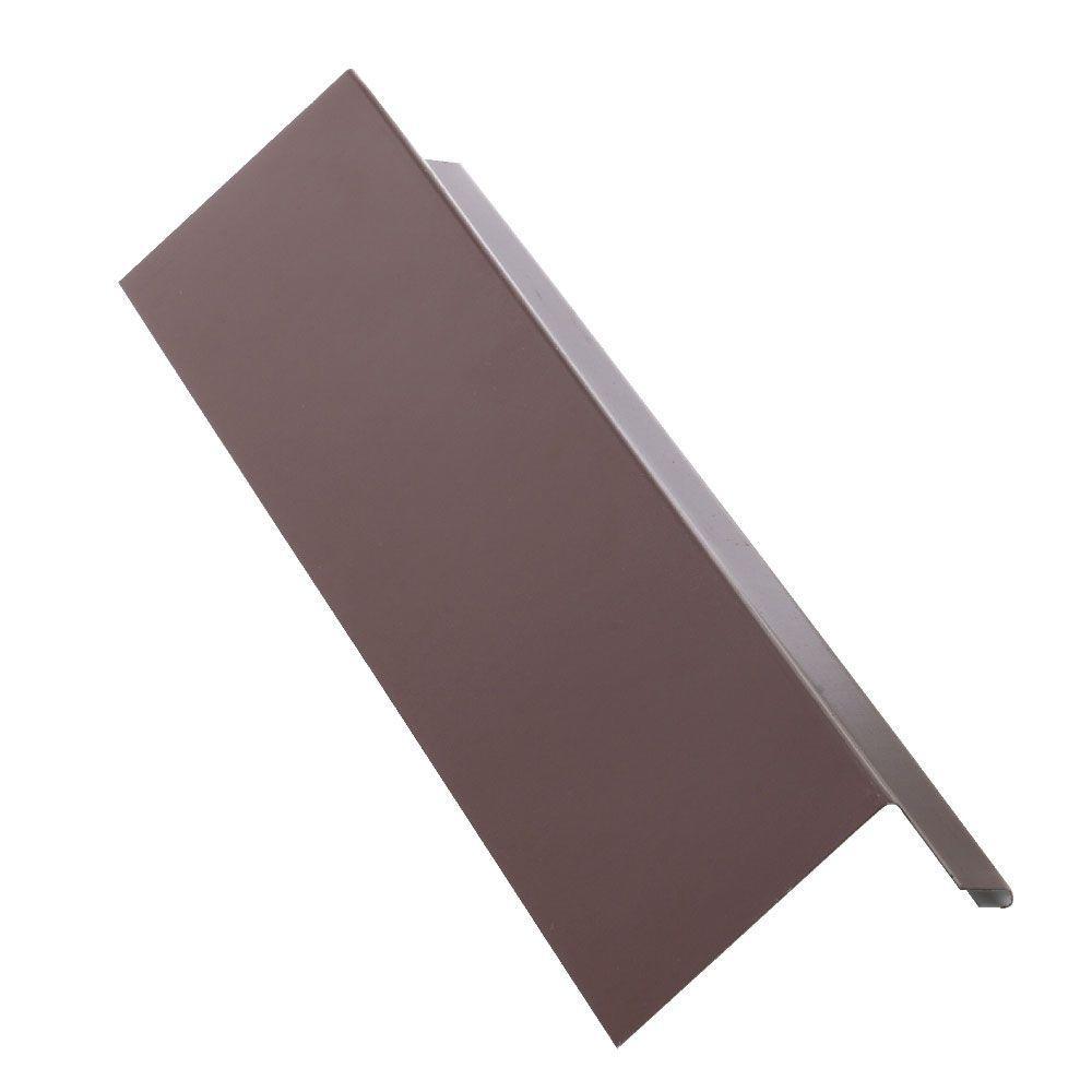 2 in. x 10 ft. Brown Steel Hemmed Drip Edge Flashing