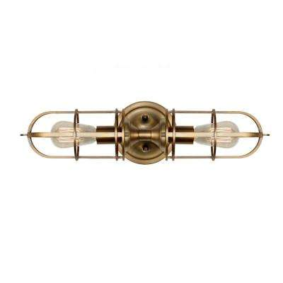 Urban Renewal 2-Light Dark Antique Brass Vanity Light