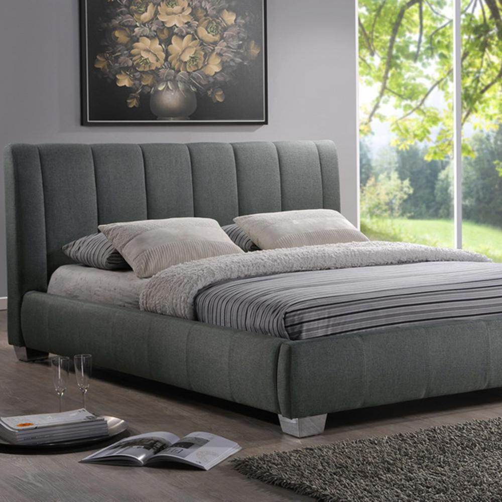 baxton studio bed baxton studio marzenia gray upholstered bed 28862 28923