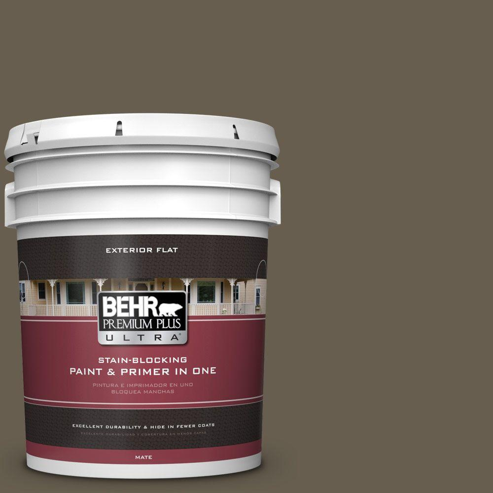 BEHR Premium Plus Ultra 5-gal. #N320-7 Primitive Flat Exterior Paint