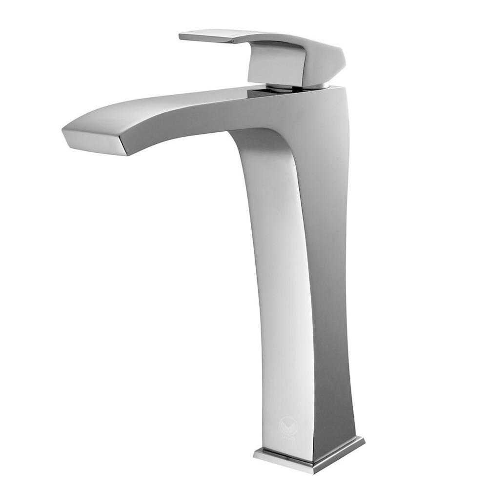 Blackstonian Single Hole Single-Handle Vessel Bathroom Faucet in Chrome
