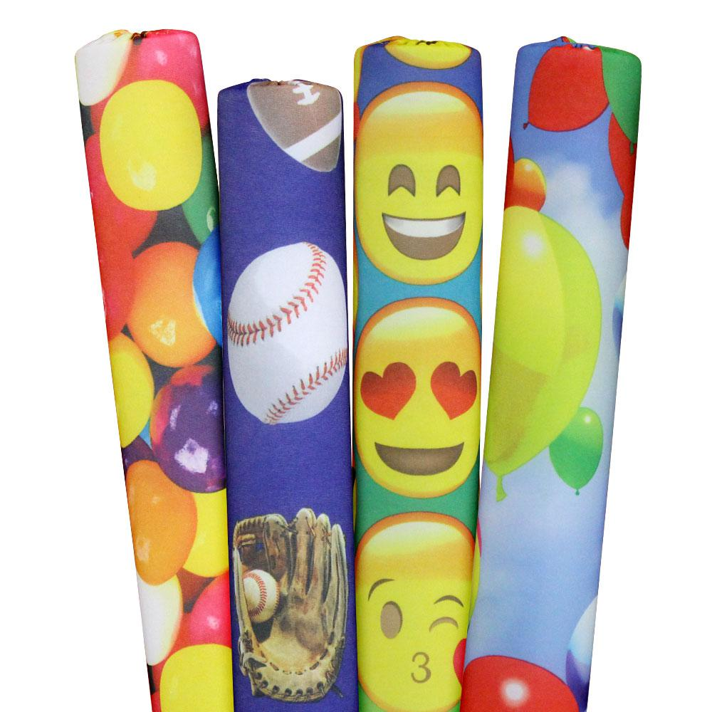 Sports, Emojis, Gumballs and Balloons Pool Noodles (4-Pack)