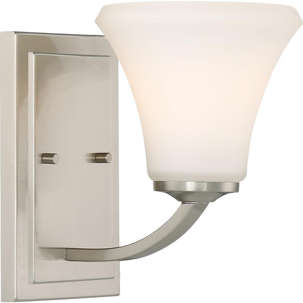 Filament Design 1 Light Brushed Nickel Bath Light Hd 606201 The Home Depot