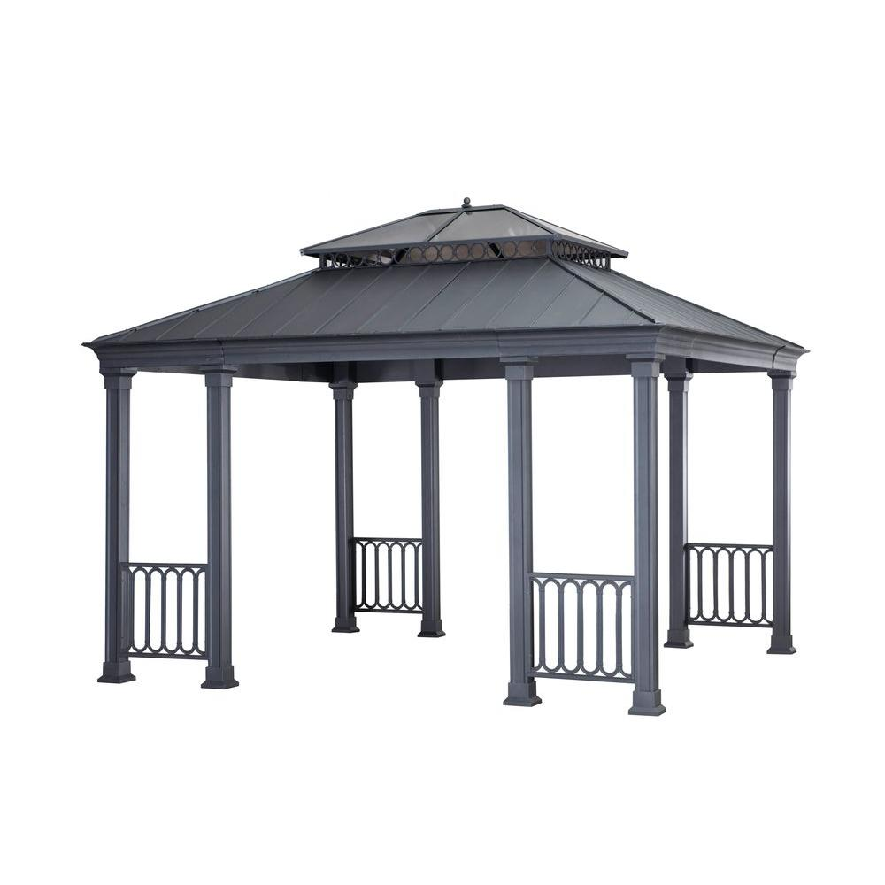 Sunjoy Catelynn 118 ft x 137 ft Black Steel Gazebo110101053