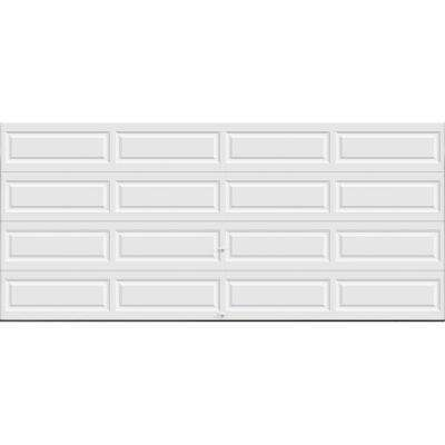 Classic Collection 16 ft. x 7 ft. 12.9 R-Value Intellicore Insulated Solid White Garage Door with Exceptional