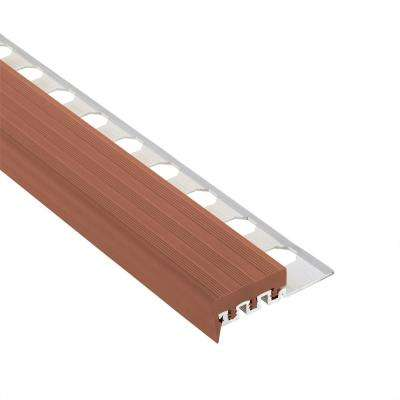 Novopeldano 1 PVC Leather 3/8 in. x 98-1/2 in. Aluminum-PVC Tile Edging Trim