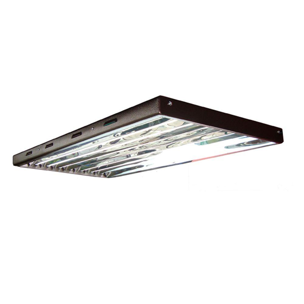 Viavolt 4 Ft 8 Bulb T5 High Output Fluorescent Grow Light Fixture