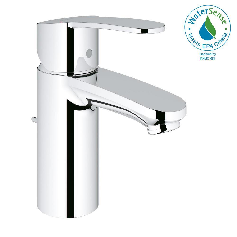 GROHE Eurostyle Cosmopolitan Single Hole Single-Handle Bathroom Faucet in StarLight Chrome