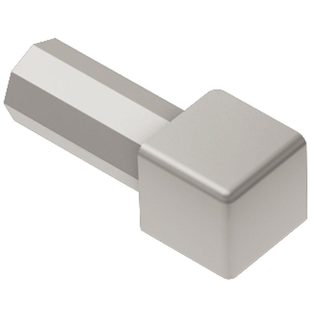 Quadec Satin Nickel Anodized Aluminum 3/8 in. x 1 in. Metal