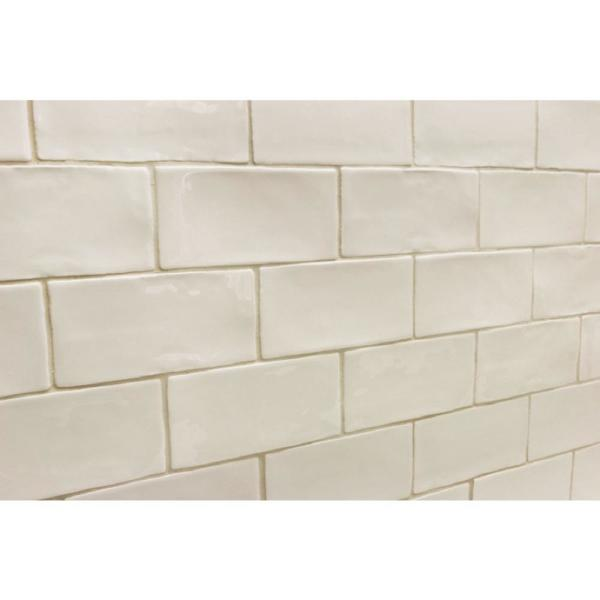 Catalina Vanilla 3 in. x 6 in. x 8 mm Polished Ceramic Subway Wall Tile (5.38 sq. ft./case)