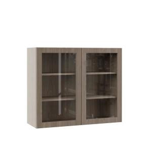 Edgeley Embled 36x30x12 In Wall Kitchen Cabinet With Gl Doors Driftwood