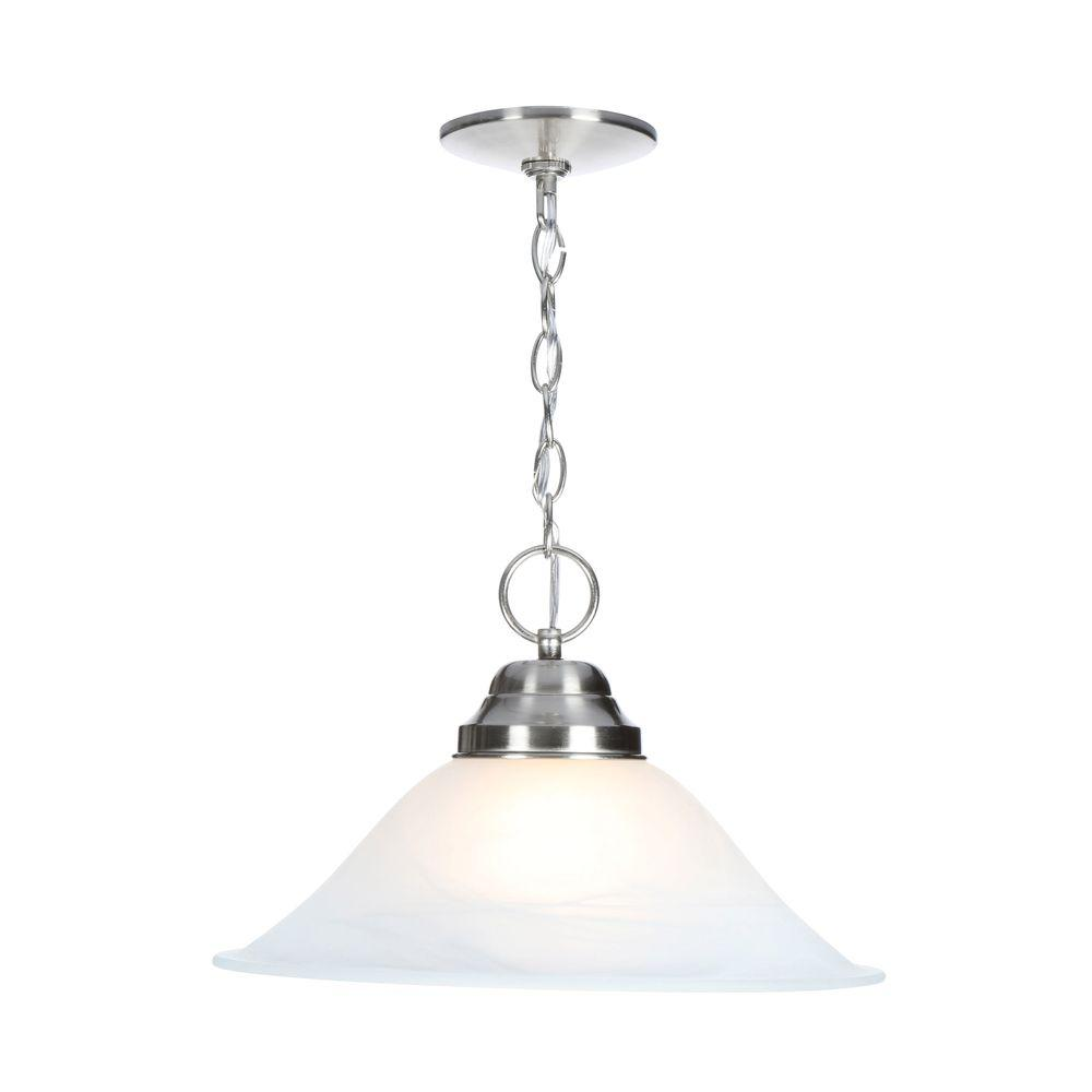 Millbridge 1-Light Satin Nickel Pendant