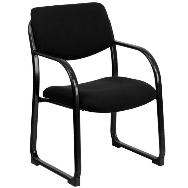 Flash Furniture Black Fabric Executive Side Chair with Sled Base BT508BK