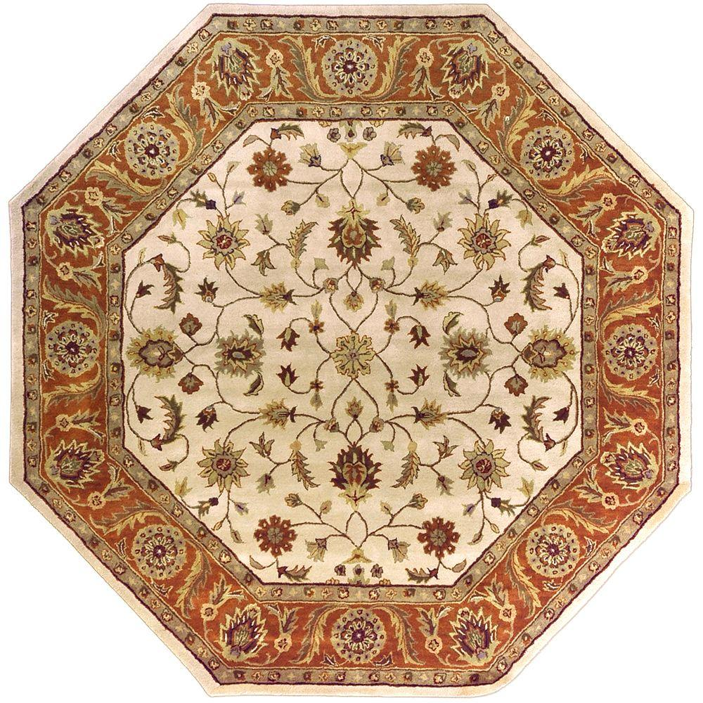 Artistic Weavers Morsse Golden Beige Wool 8 Ft Octagon