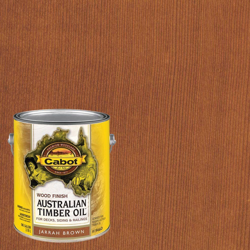 1 gal. Jarrah Brown Australian Timber Oil Exterior Wood Finish, VOC