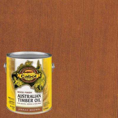 1 gal. Jarrah Brown Australian Timber Oil Exterior Wood Finish, VOC Compliant