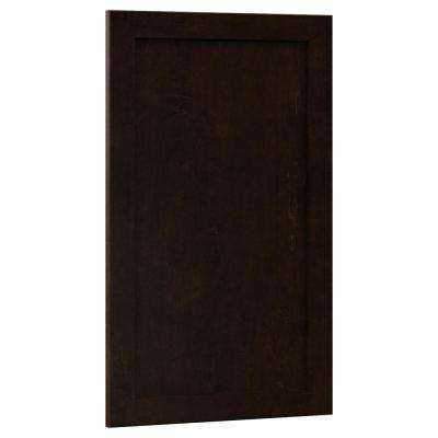 0.75x29.37x17.50 in. Shaker Island Decorative End Panel in Java