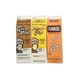 Flavacol Salt and Glaze Pop Flavoring (3-Pack)