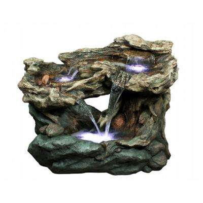 30 in. Tiered Waterfall Rainforest Fountain