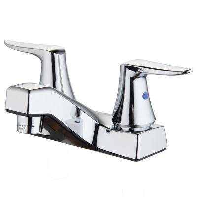 Rhondonite 4 in. Centerset 2-Handle Bathroom Faucet with Pop-Up Drain in Chrome
