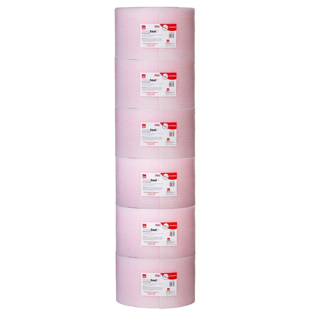 FoamSealR 7-1/2 in. x 50 ft. Multi-Use Ridged Sill Plate Gasket (6-Roll per Bag)
