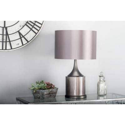24 in. Black Tapered Cylindrical Table Lamp