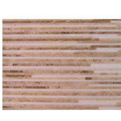 Great Napoleon 6 in. x 24 in. x 8 mm Marble Mosaic Floor and Wall Tile Sample