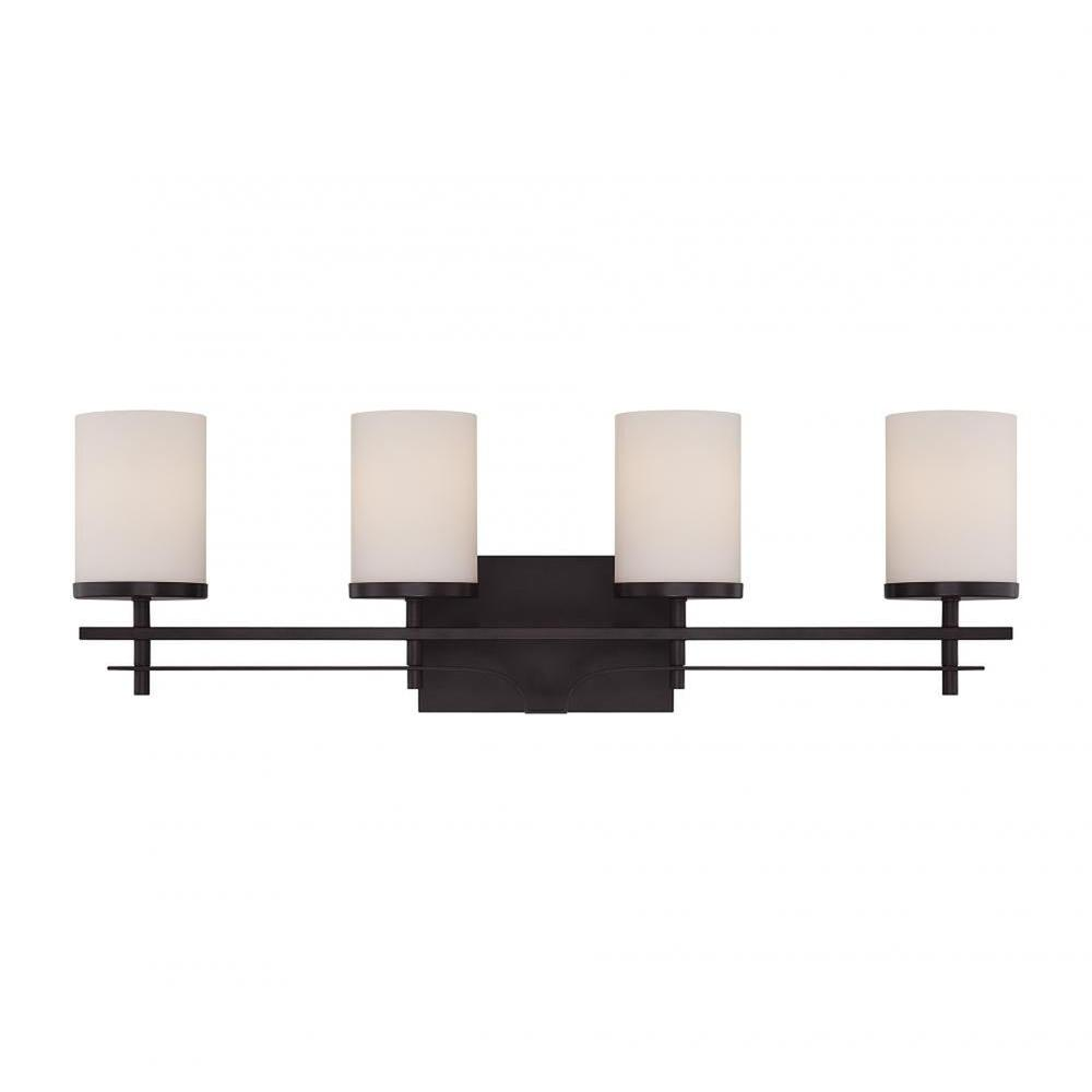 Miles 4-Light English Bronze Bath Vanity Light