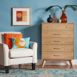 Holbrook 5-Drawer Natural Chest of Drawers