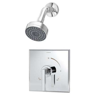 Duro Single-Handle 1-Spray Shower System in Chrome (Valve Included)