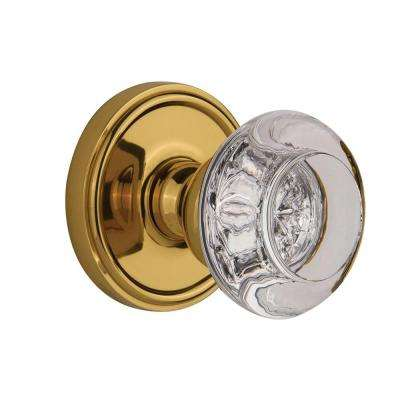 Georgetown Polished Brass Dummy with Bordeaux Crystal Door Knob