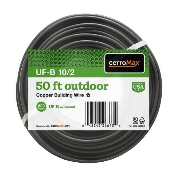 50 ft. 10/2 UF-B Wire