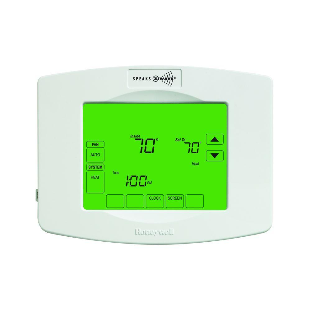 Honeywell Z-Wave 7-Day Touchscreen Thermostat with Wiresa.