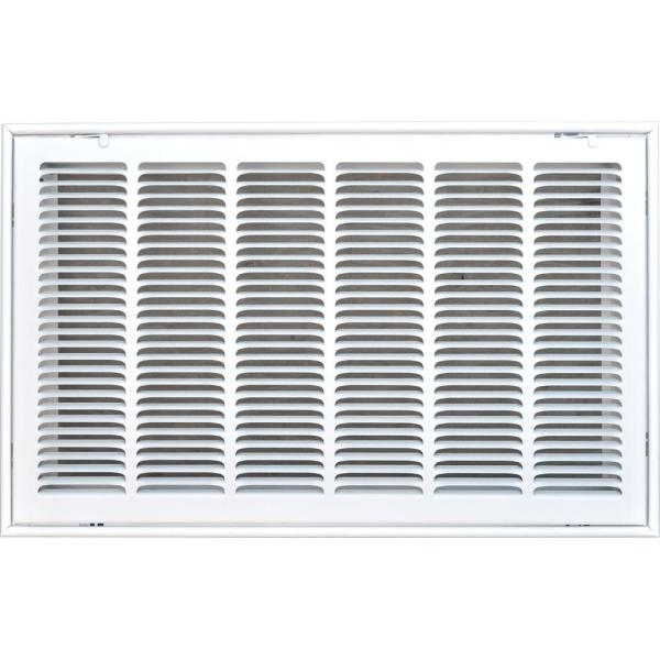 Speedi-Grille SG-306 RAG 30-Inch by 6-Inch White Return Air Vent Grille with Fix