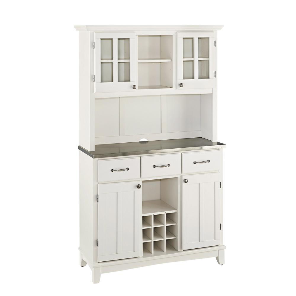 White Kitchen Buffet: Home Styles White Buffet With Hutch-5100-0023-22