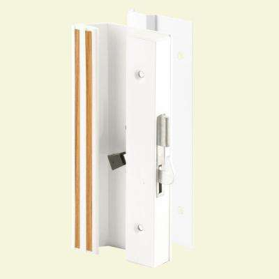 Low Profile/Low Base White Aluminum Latch Handle