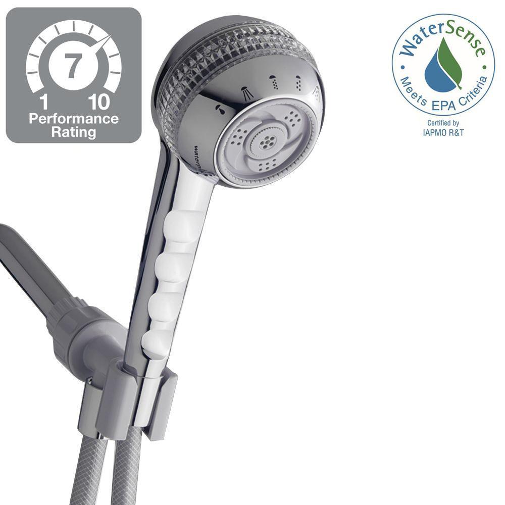 Waterpik Original Shower Massage 6-Spray Hand Shower in White-SM ...
