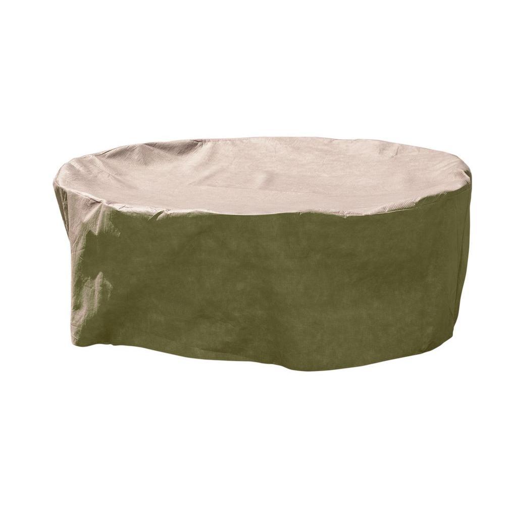DryTech Medium Round Khaki Patio Table with Chair Cover