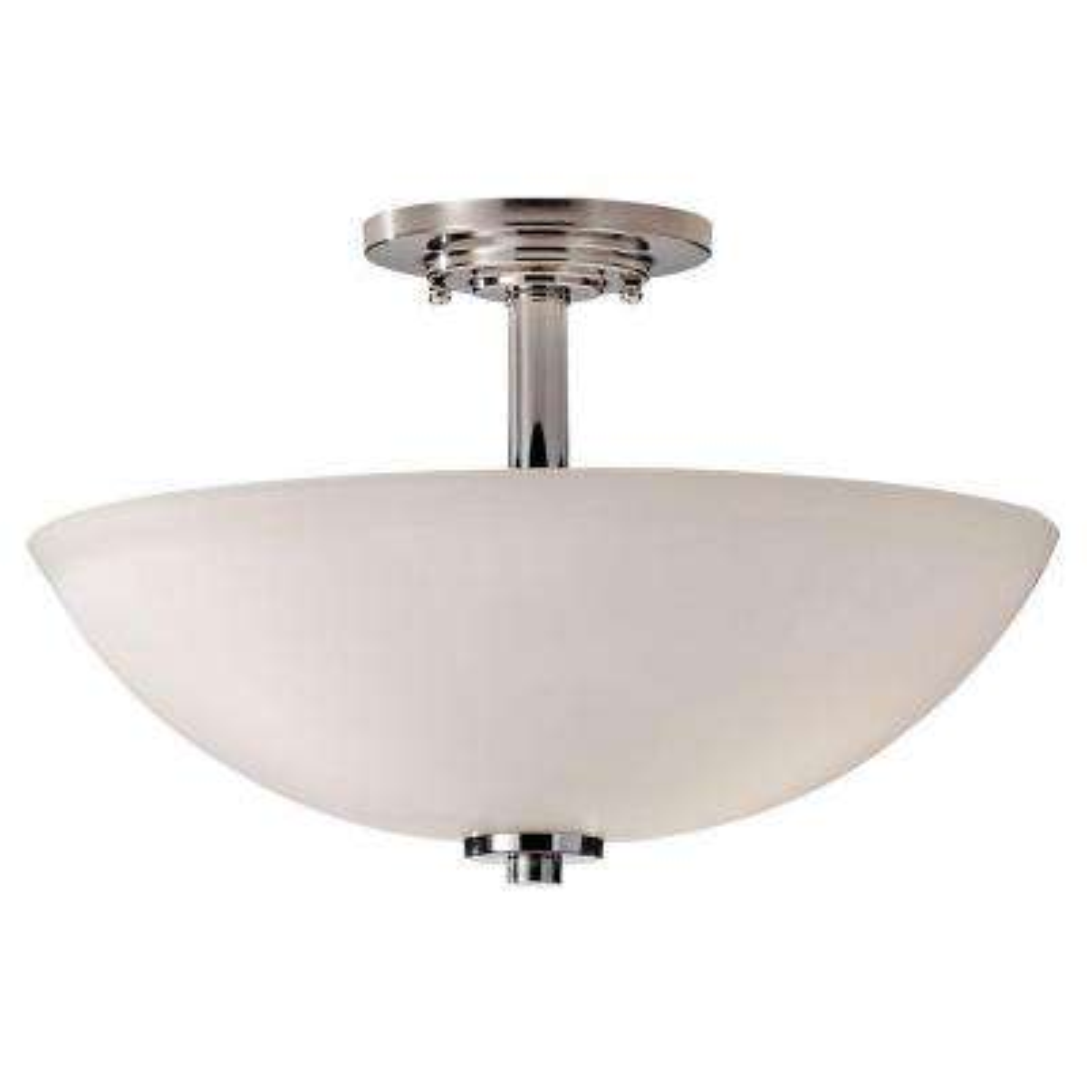 Malibu 3-Light Polished Nickel Semi-Flush Mount Light